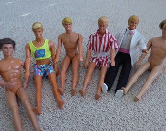 Vintage Lot of 6 KEN DOLLS