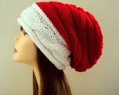 BLACK FRIDAY SALE Santa Hat Super Slouchy Hat Oversized Beanie Christmas Hat Women Men Baggy Hat Dreadlock Hat Holiday Fashion Hat Gift Idea