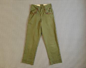 1960's, Boy Scout pants, Women's size Small/XS