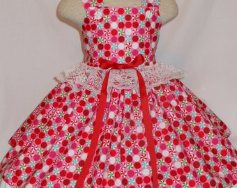 Peppermint Candy Dress, Unique,Handmade Candy Dress,Birthday Peppermint Candy Dress, Princess Candy Dress, Custom boutique Style Candy dress