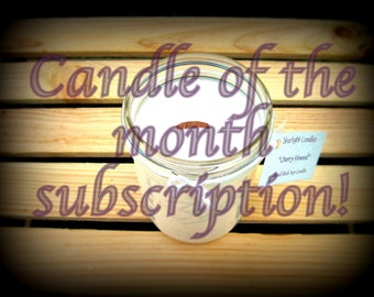 16oz Soy Candle of The Month Club - 3 Month Membership - Valentines Day Gift - Monthly Candles - Candle Subscription