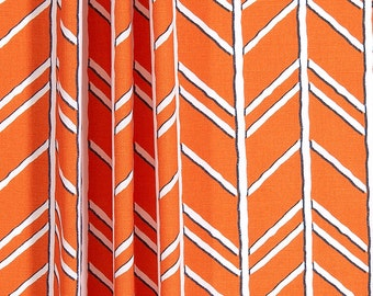 "Orange Curtains,Monarch Curtains,Bogatell, Custom Curtains,Pair Drapery Panels, Feather, Quill, Curtains,24"" Wide,52"" Wide"