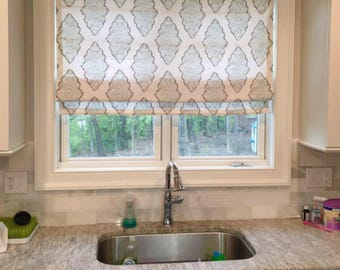 Delicieux Custom Roman Shade, Made To Order Window Treatment, Blackout Shades, Flat Roman  Shade