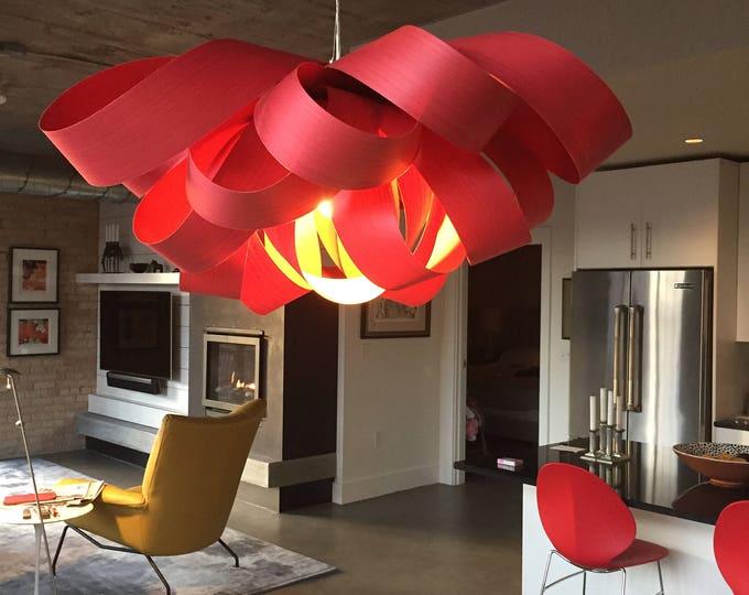 Modernist Hanging Lamp Red Ribbon Luis Eslava Spain