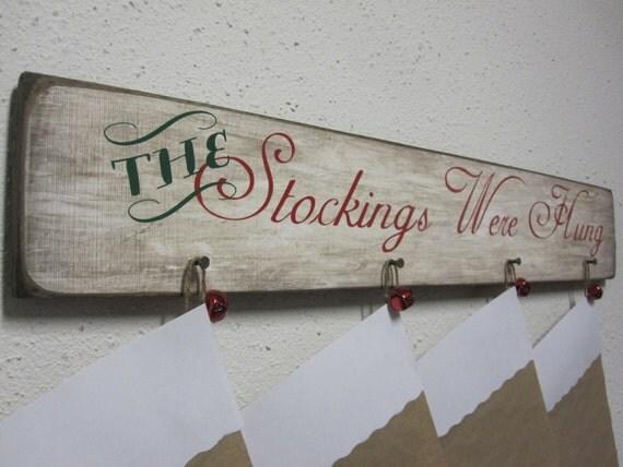 Christmas Stocking Wall Hanger Dcor Stocking Hanger