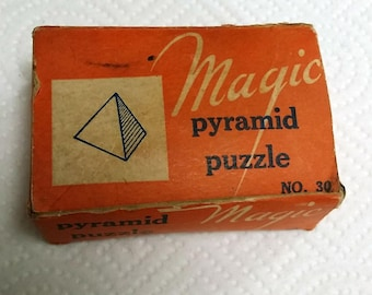 1940s Richard Appel Magic Pyramid Puzzle No. 30 in original box RARE