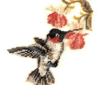 The Vermillion Stitchery The Hummingbird DIY Counted Cross Stitch Kit New In Package Rare Out of Print Needlework Balger Blending Fillament