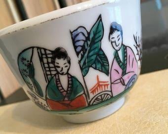 Asian teacup, asian china, rice bowl