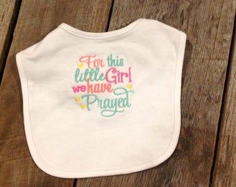 Baby girls bib