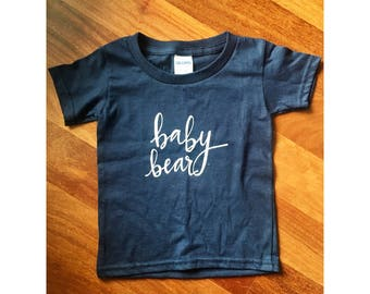 Baby Bear - Navy Toddler Tee, Mommy and Me Tee