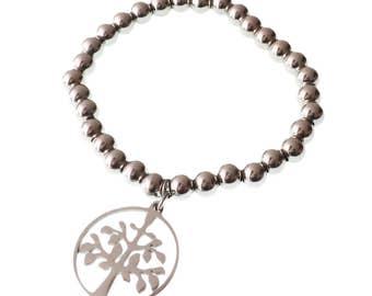 Tree-of-Life Bracelet/Stainless Steel Bracelet/Tree of Life Charm Bracelet/For Him/For her