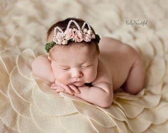 Felted Blossom Blanket • Newborn Photo Prop • Felt Photo Prop | Ready to Ship