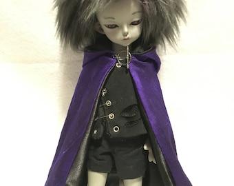 YoSD BJD purple cloak