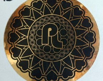 "Pretty Lights 3.5"" gold metallic sticker.EDM, Derek Vincent Smith, Electronica,Basslights,"