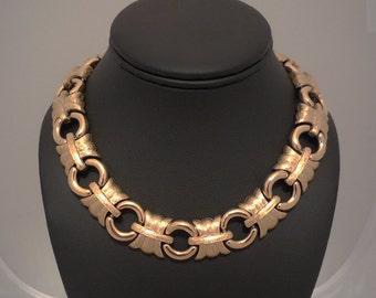 GIVENCHY Paris New York Goldtone Choker Necklace - Vintage