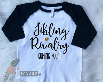 Sibling Rivalry Coming Soon - Only Child Expiring Shirt - Pregnancy Announcement t Shirt - Pregnancy Announcement Raglan Tee- Only Child