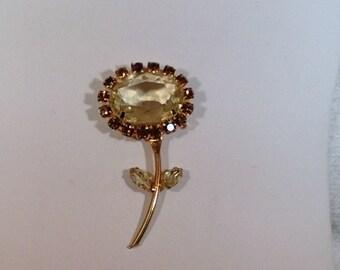 Yellow Flower Brooch