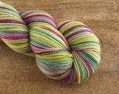 SALE Mistletoe's for Two (Sparkling) - Superwash Merino / Nylon / Stellina sock yarn (438 yards) fingering weight
