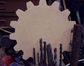 Gear Plaque - Steampunk Plaque - Eight Inch Gear - Craft Gear - Steampunk Wedding - Industrial Award