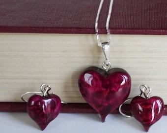 Wine Heart Jewellery