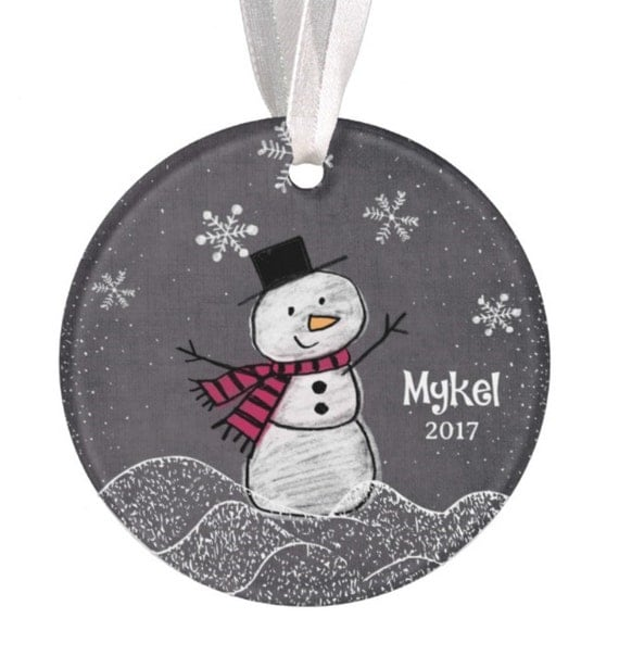 Baptism Ornament Christmas Ornament By Ryellecreations On Etsy: Personalized Christmas Ornament Snowman Ornament Christmas