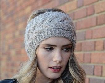 Spring sale Brown Winter Headband, Knit Headband, Knitted Headband, gift for her, gift for girlfriend gift for friend, gift for women