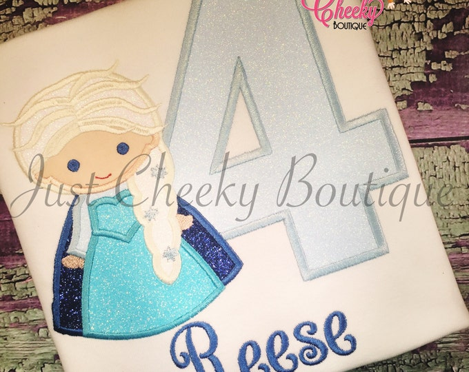Ice Queen Cutie as Elsa from Frozen Birthday Shirt