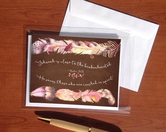 Near to The Brokenhearted-Greeting Card -  jw greeting cards - jw cards