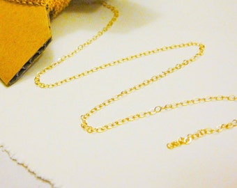 14k Gold filled 1.0mm flat cable chain, gold chain, flat cable chain, chain, 1 mm gold filled flat cable chain by the foot, gold chain