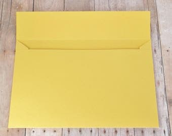 Golden Yellow Matte Envelopes - 4x6 (A6) - Greeting Cards, DIY Invitation Envelopes, Wedding, Birthday, Shower Invitations - Set of 10
