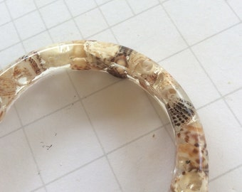 Shell bracelet, shell bangle, seashell bracelet, beach jewellery, nautical jewellery, boho bangle, resin bangle, gift for her, sea jewellery