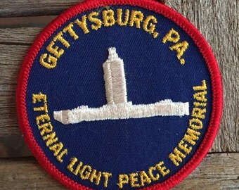 Gettysburg, PA Eternal Light Peace Memorial Souvenir Travel Patch