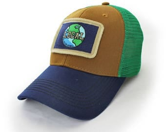 Everyday Trucker Hat, Structured, Local World, Earthy Colors