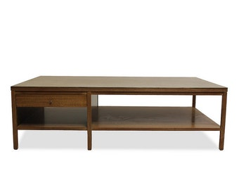 Coffee Table  Mid Century Modern - Paul McCobb for Calvin / Irwin Collection, Leather-Topped,  Vintage 1950s Furniture