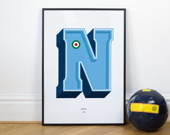 N is for Napoli, Football Typography Print