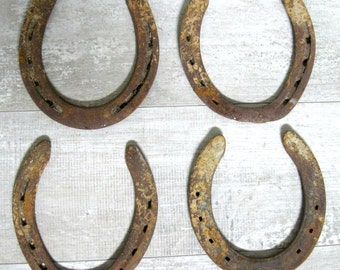 4 Rustic Horse Shoes