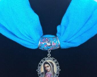 Virgen de Guadalupe Nicho Scarf Pendant