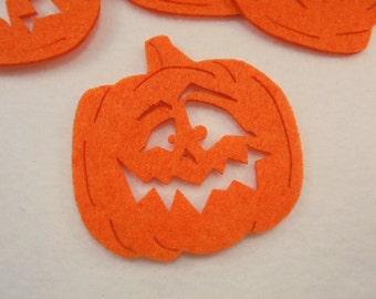 5 pumpkin, felt, 8x8 cm, *** Color choice **