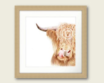 Hamish the Highland Cow Print Artwork Picture