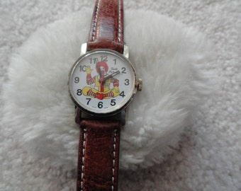 Vintage Swiss Made Ronald McDonald Wind Up Watch