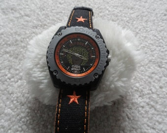 """iSprout Cuipo Men's Quartz Watch - Dial says """"Fight Deforestation"""""""