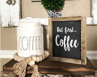 But first coffee sign, coffee sign, framed sign, coffee bar sign, kitchen sign, farmhouse style