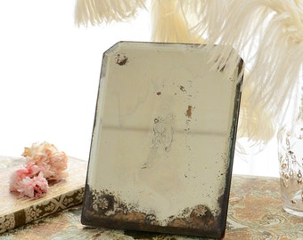 Antique French Mirror with Mercury Glass