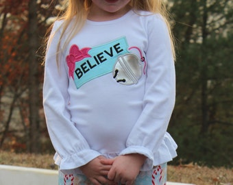The Polar Express Believe Shirt for Girl or Boy (No Bow)