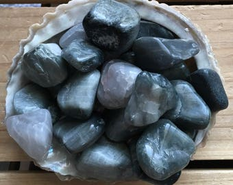 Grey Cat's Eye,Beautiful Natural Small ,Stone of Protection and Luck ,Spiritual Stone, Healing Stone, Healing Crystal, Chakra Stone