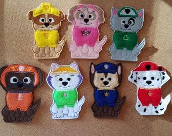 Dog Finger Puppet Set - Made to Order