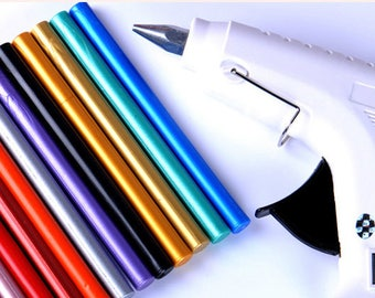 High Quality Sealing Wax Glue Gun for Wax Seal Stamp Set of 10 Wax Stick for Embosser