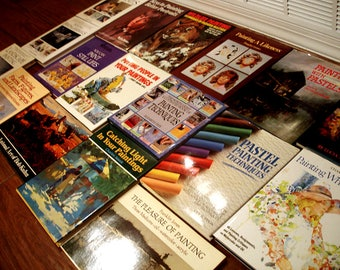 Large Library Lot Of 17 Artists Art Instruction Books