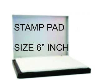 6 inch stamp pad. Larger ink pad for larger rubber stamps 6 inch Sold Dry, ink sold separately. Industrial ink pad, rubber stamping.