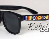 VENTE de lunettes de soleil perles argent feu